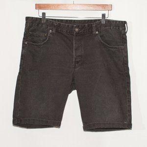 H&M Men's Cuffed Black Denim Shorts
